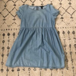 Jean material baby doll dress
